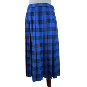 Pendleton Morgan Tartan Plaid Pleated Wool Skirt
